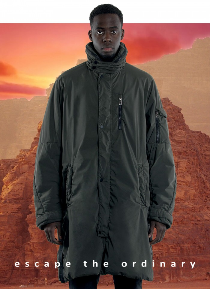"""PARKA IN """"DYED TECHNO STRETCH"""""""